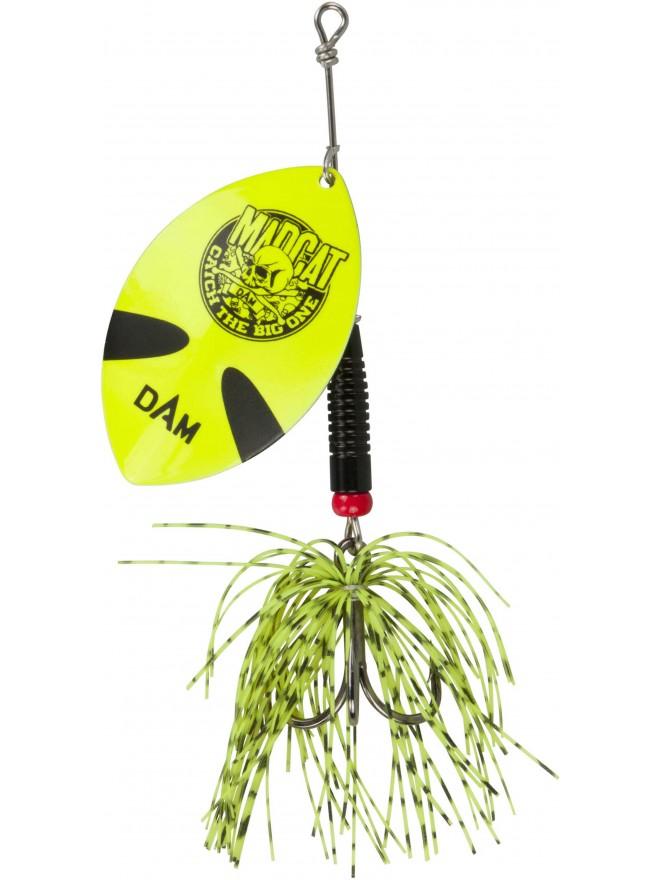 Błystka obrotowa Madcat Big Blade Spinner Fluo Yellow 55g DAM