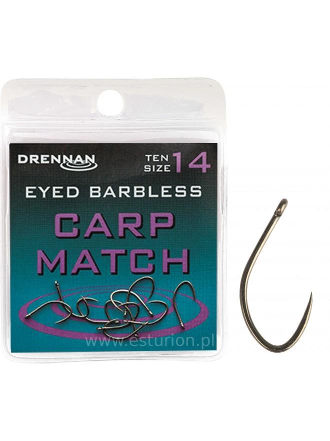 Haczyki Carp Match bezzadziorowy nr #8 Drennan