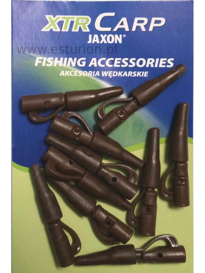 Bezpieczne klipsy z osłonkami brązowe 10szt Jaxon