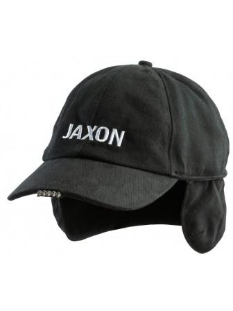 Czapka ocieplana z latarką w daszku 5 diod LED - czarna Jaxon