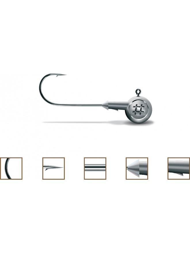 Główki jigowe Precision 3/0 14g srebrne Owner