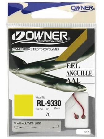 Haczyki RL9330 Ryusen nr 2+przypon 0,25mm 7szt Owner