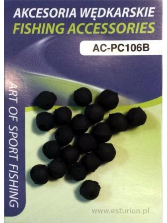 Gumowe koraliki zderzakowe 6mm 20szt Jaxon