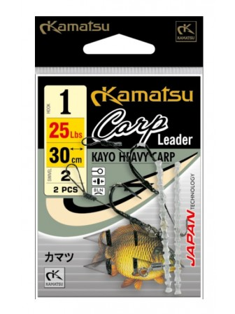 Przypony Carp Leader Kayo 1/0BLNO 30cm/25Lbs Kamatsu