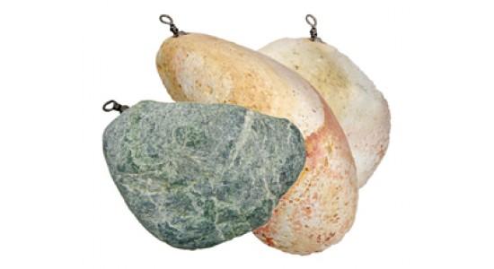 Ciężarek kamienny kolor zielony 80-100 gr 4szt op. Konger