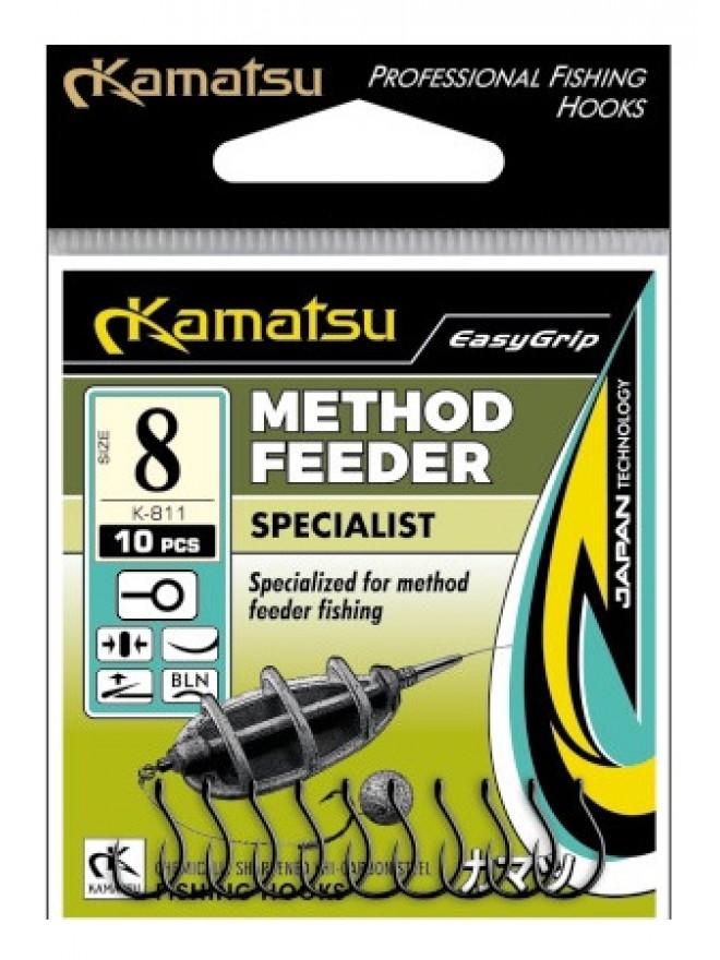 Haczyki method feeder Specialist #8 blno K-811 op.10szt Kamatsu