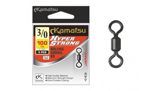 Krętlik Hyper Strong Rolling Swivel K-1001 3/0/100kg op. 5szt Kamatsu
