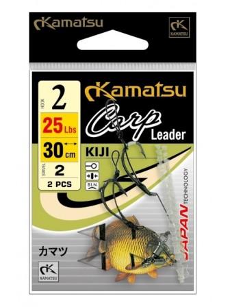 Przypony Carp Leader Kiji 2BLNO 30cm/25Lbs Kamatsu