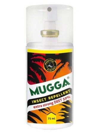Spray 50% Deet preparat przeciwko komarom i meszkom Mugga