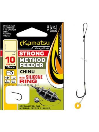 Przypony Method Feeder Chinu gumka lateksowa 10cm nr #6 Kamatsu