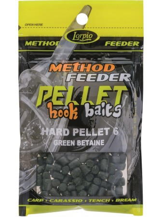 Hook Baits Hard Pellet 6mm green betaine 25g Lorpio