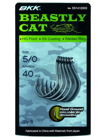 Haczyki Beastly Cat 5/0 Super Slide 6szt BKK