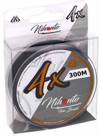 Plecionka Nihonto Fine Braid 0,10mm 300m black Mikado