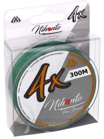 Plecionka Nihonto Fine Braid 0,10mm 300m green Mikado