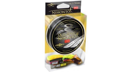 Plecionka Nihonto Octa Braid 0,18mm 150m black + gratis Mikado