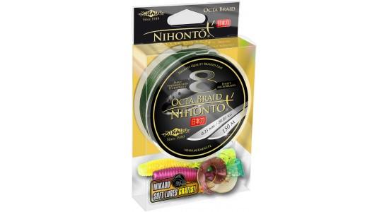 Plecionka Nihonto Octa Braid 0,20mm 150m green + gratis Mikado