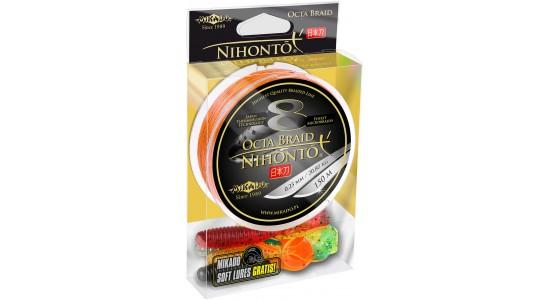 Plecionka Nihonto Octa Braid 0,23mm 150m orange + gratis Mikado