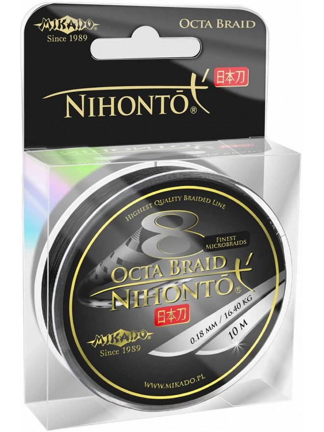 Plecionka Nihonto Octa Braid 10m 0,08mm black Mikado