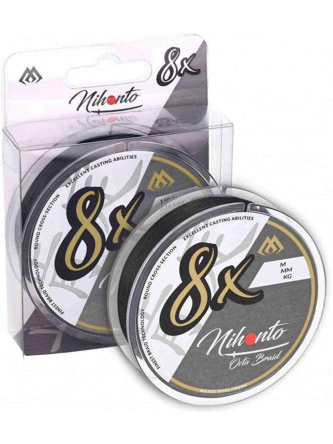 Plecionka Nihonto Octa Braid Black 0,14mm 150m Mikado