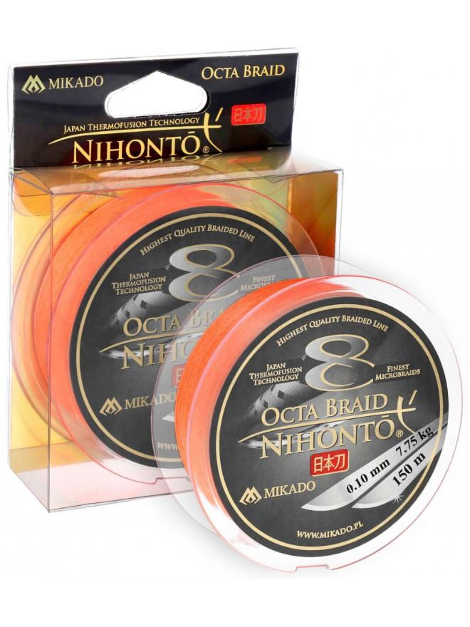 Plecionka Nihonto Octa Braid Orange 0,10mm 150m Mikado