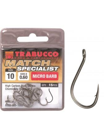 Haczyki Match Specialist Micro Barb nr 10 Trabucco